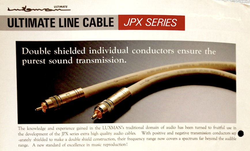 Luxman Ultimate Audio Cable JPX-2000