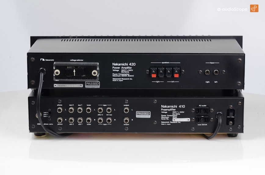 nakamichi 410 420 pre power amp for sale. Black Bedroom Furniture Sets. Home Design Ideas