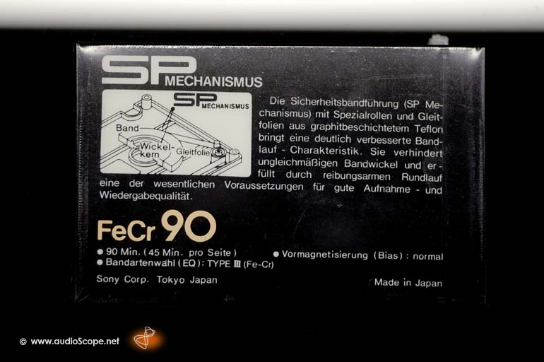 Sony FE-CR 90 min. Compact Cassette for sale.